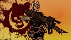 GEARS OF WAR WALLPAPER-ANYA by TheGreatGod