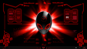 red-alienskins rainmeter by canibite