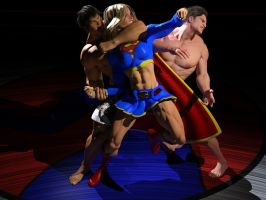 Supergirl vs MMA heavyweights: the full scene by DahriAlGhul