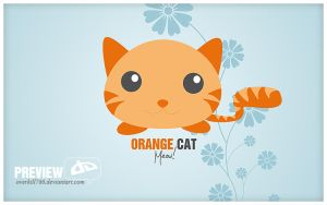 OrangeCat Wallpaper by Overkill766