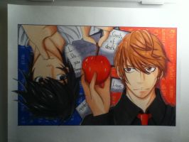 L, do you know gods of death love apples??- finish by Akiri-chann