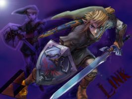 Link Purple Triforce by Ashaska