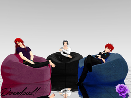 [DL] Beanbags for MMD by al3xgay