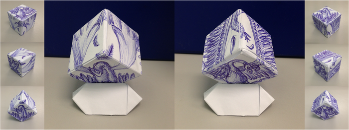 Lugia and Ho-Oh (Origami Sketch) by QuietCrystal