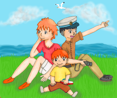 Sosuke and Ponyo (older) by Death-of-all