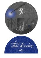 Doctor Who In/Out Door Sign by Raechi-Cherie