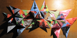 30 modules origami step by step : step 3 by human-chaos