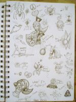 Legend of Zelda Doodle Page by starbuxx