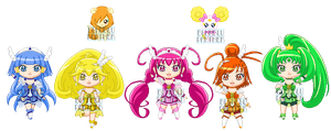 ChibiP: Smile Pretty Cure by blknblupanther