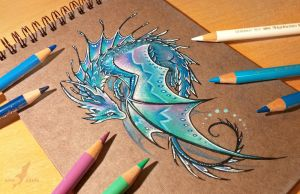 Lunar water dragon by AlviaAlcedo