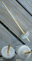 Bedrock Recycled Paper Drop Spindle by flufdrax