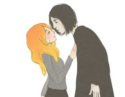 snape and lily by kisaluvluv