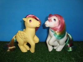 My Little Pony Toy 80's - Skydancer and Starshine by GraphicPlanetDesign