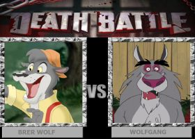 DEATH BATTLE: Brer Wolf vs Wolfgang by HunterxColleen