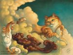Cumulous Cats - Sunset Storm by soulofwinter