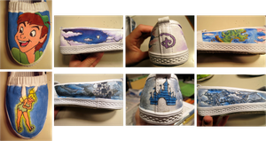 Peter Pan Tink Disney Shoes by zowzie