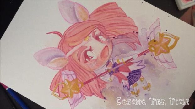 Star Guardian Lux Chibi Speed Painting by VikaDX