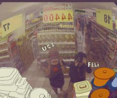 superwomen in supermarket by nininunino