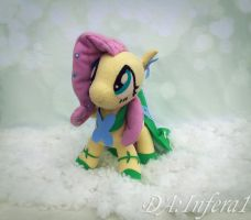 Fluttershy with a gala dress [up for sale] by Infera1