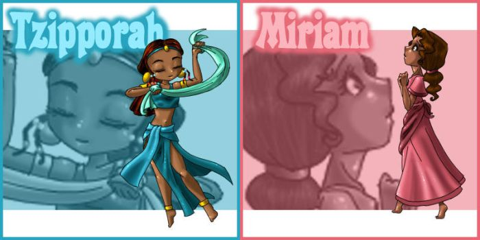 Tzipporah and Miriam Patches by Street-Angel