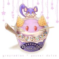 Pocket Dolce 6 - Rattata by GreyRadian