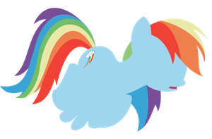 Minimalistic Rainbow Dash by NitaShinori