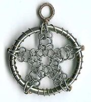 Chainmaile Pentacle by jardan