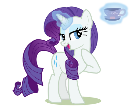 Rarity And Her Teacup by DMKryl