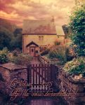 Country Cottage - Unrestricted Premade Background by la-voisin