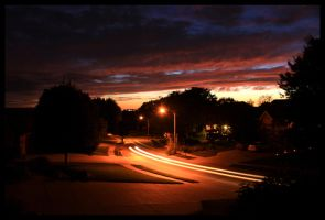 Suburban September Sunset by FramedByNature