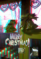 Merry Christmas And Happy New Year 2015!(Anaglyph) by Hiscules