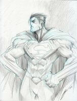 Superman sketch by Sandoval-Art