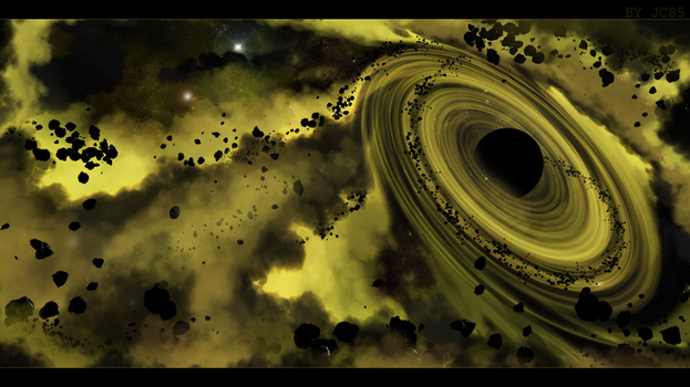 Wallpaper Spaceart - Black Hole by Mataraelfay