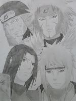 Four Hokages by Wolfofshiver