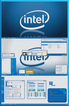 Intel Windows theme for 7 by yorgash