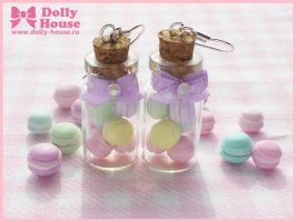 Sweet macarons in the bottle by Dolly House by SweetDollyHouse