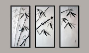 Bamboos -- triptych by DevianteFlap