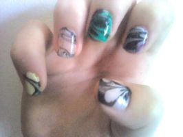 Water Marbling Nail Design by Experimently-Bernsie
