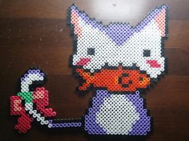 Cute cat perler bead #10 by isaletheia