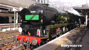 SR 35028 'Clan Line' at London Victoria by The-Transport-Guild