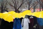 Yellow Umbrellas by CarolynYM