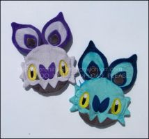 Zipper Pouches: Noibat and Shiny Noibat by Serenity-Sama