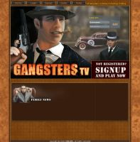 Gangster online game - website by michan