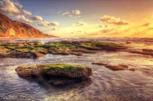 Rocky Sunset by dorwein