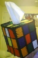 Rubiks Cube Tissue box cover by writingsmylife