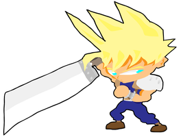 Cloud Strife by greenate