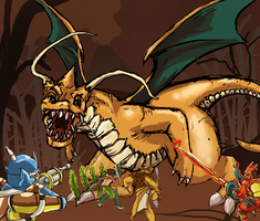 Pokemonster Dragonite Hunt WIP by tRickityhouses