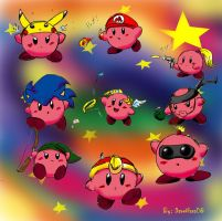 Kirby and Hats by DavidGongora