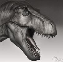 T-Rex 3D Model WIP 4 by FoxHound1984