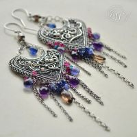 Del Arco Iris - earrings by JoannaWatracz